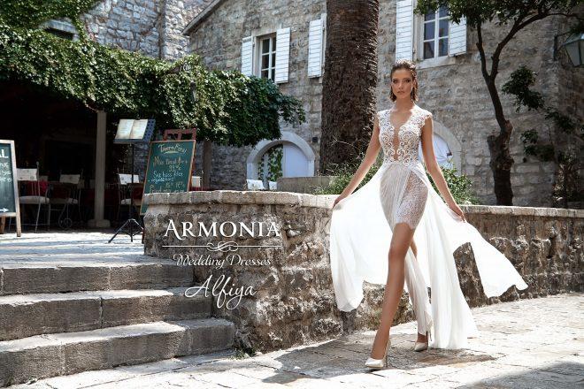 Невероятное свадебное платье Alfiya