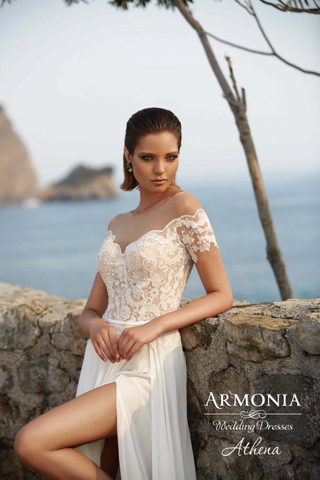 Свадебное платье Athena А-силуэта