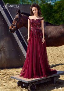 Вечернее платье Bordo Lanesta