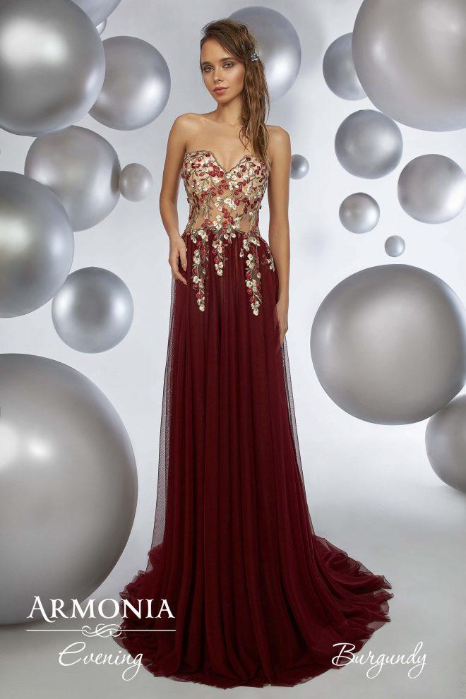 Вечірня сукня Burgundy Armonia