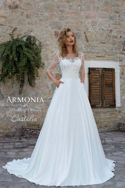 Свадебное платье Castalia А-силуэта