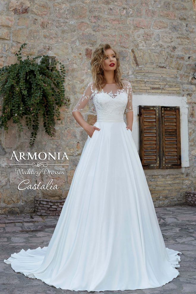 Весільна сукня Castalia А-силуету