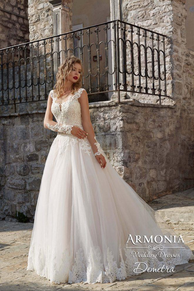 Весільна сукня Demetra А-силуету