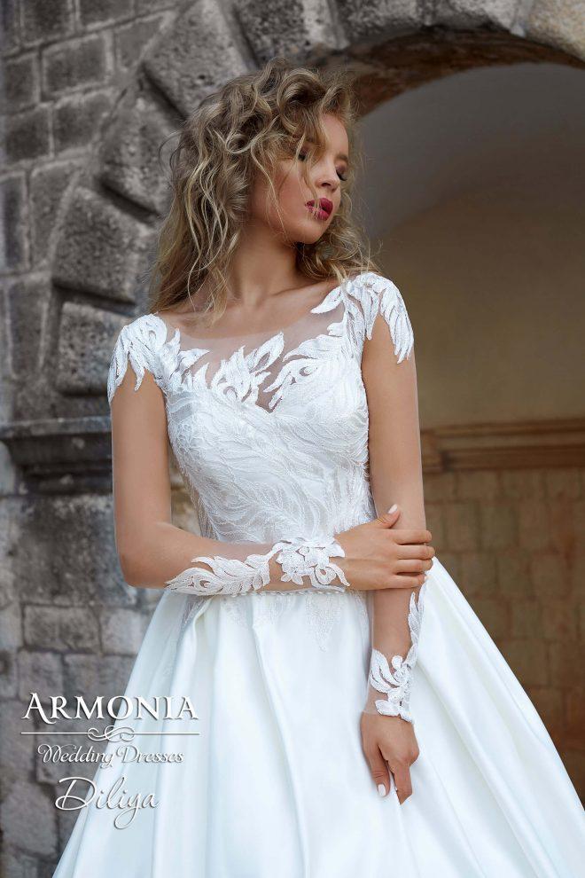 Cвадебное платье А-силуэта Diliya
