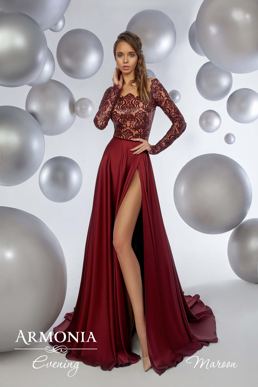 Выпускное платья Бордо
