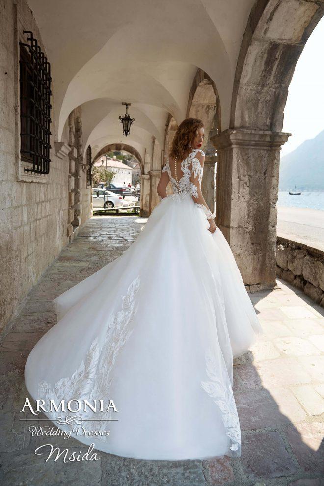 Cвадебное платье А-силуэта Msida