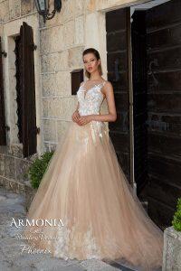 Свадебное платье силуэта годе Phoenix
