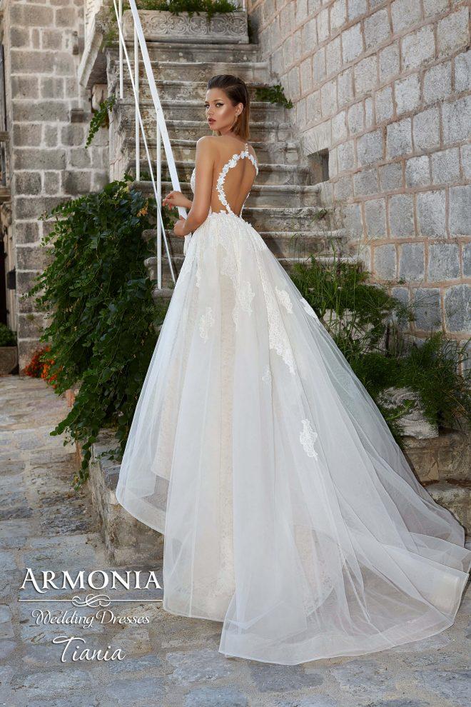 Cвадебное платье силуэта русалка Tiania
