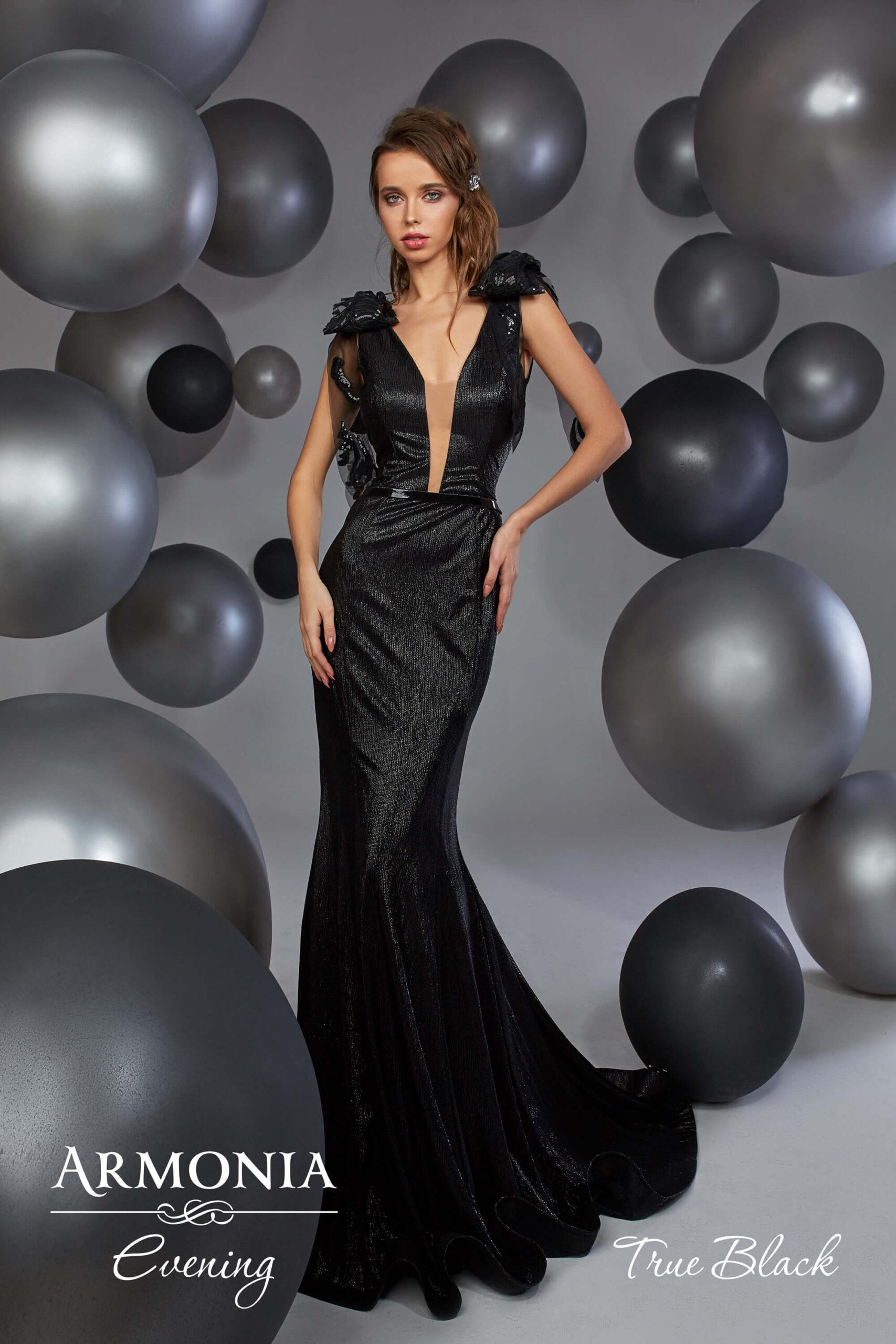 вечірня сукня силуету годе True black